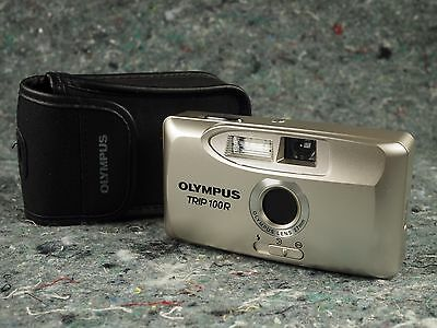 Olympus Trip 100R 35mm film point and shirt camera with case