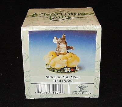 Fitz Floyd Charming Tails SHHH DON'T MAKE A PEEP tales  Easter baby chicks NEW
