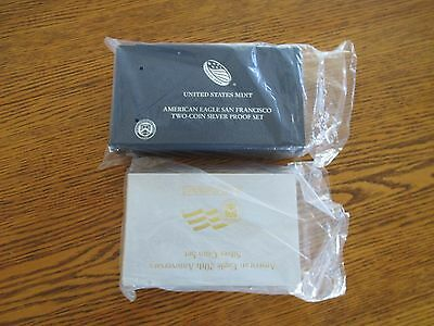 Lot of 2 Proof Silver Eagle Anniversary Sets: 2006 & 2012 Complete with OGP