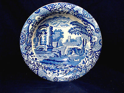 Copeland Spode Blue Italian Large Serving Bowl With Older Oval Backstamp