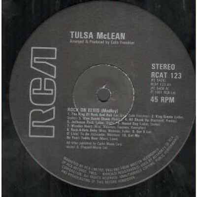 "TULSA MCLEAN Rock On Elvis 12"" VINYL UK Rca 1981 Elvis Medley (Rcat123)"
