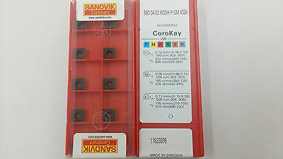 SANDVIK CARBIDE INSERT 880-0403W05H-P-GM 4024 10 pcs