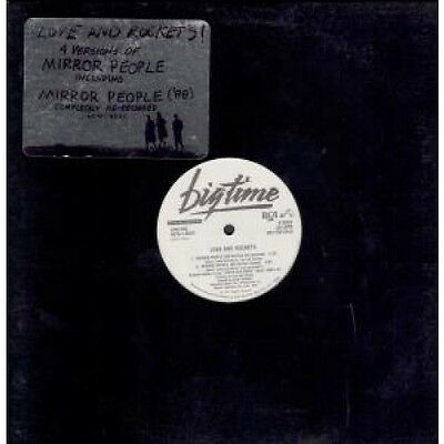 """LOVE AND ROCKETS Mirror People 12"""" VINYL US Beggars Banquet 1987 4 Track Promo"""