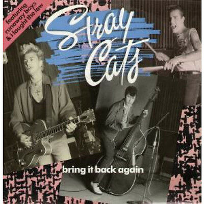 "STRAY CATS Bring It Back Again 12"" VINYL UK Emi 1989 3 Track B/W Runaway Boys"