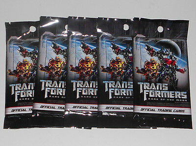 5x Transformers Dark of the Moon Official Trading Card Sealed Packs Packets