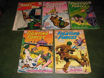 Our Fighting Forces  #68, 69, 75, 78, 120 Silver Age DC Lot of 5 Comic Books