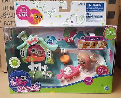 Littlest Pet Shop Walkables Puppy Dog Play Set #2163 Sealed New Minty RARE