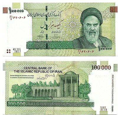 Iran 100000 (100,000) Rials P151 Authentic Banknote Uncirculated Currency