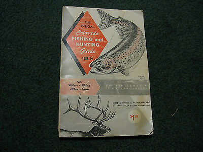 Vintage 1958-59 Official Colorado Fishing and Hunting Guide