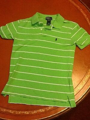 Polo By Ralph Lauren Boys Short Sleeve Polo Shirt Size M 10-12 Green