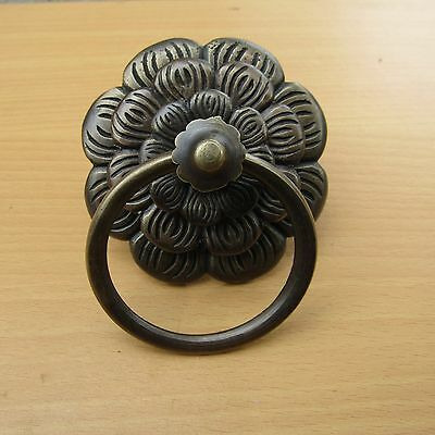 "3.5"" Vintage Solid Brass Front Door Knocker with Pull Ring KNOCKER GBY 39"