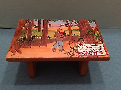 FOOTSTOOL~ Handmade Father and Son ~ New family heirloom! Father's Day WELL MADE