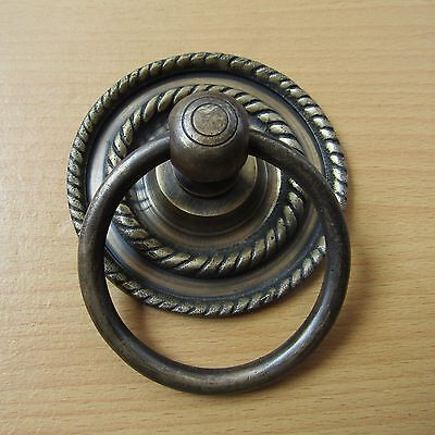 "3.5"" Vintage Solid Brass Front Door Knocker with Pull Ring KNOCKER GBY 20"