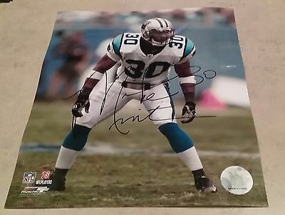 NFL PANTHERS HOF MIKE MINTER AUTOGRAPHED SIGNED 8x10 FOOTBALL PHOTO COA JSA PSA