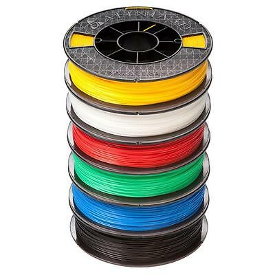 ABS PLUS Premium 1.75 mm White, Black, Red, Blue, Yellow, Green Filament 6-Pack