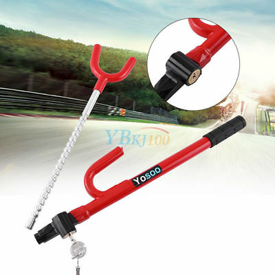 Stainless Anti-theft Device Clutch Lock Car Brake Security Lock With 3 Key Tool