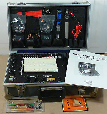 Knight Mini-Lab Electronics Test Training Educational Kit in Case + Accessories