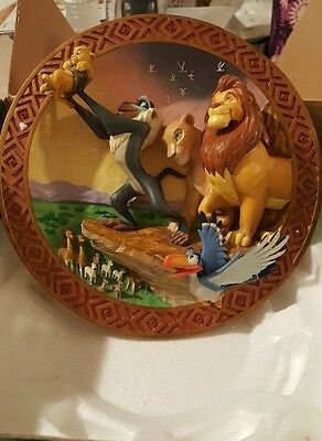 RARE!! Disney's Store Limited Edition The Lion King 3D Collector Plate. 504/5000