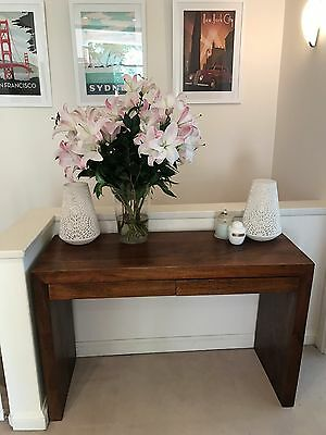 Console Hall Utility Table or Server Dressing Timber Table with drawers