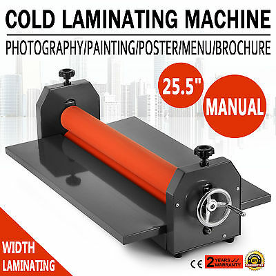 "Roll 25.5"" 650mm Manual Cold Laminator Roll Mount Laminating Machine"