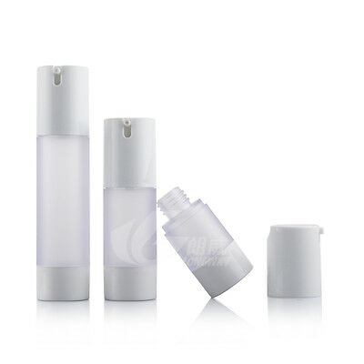 15ml 30ml 50ml Frosted Empty Airless Pump Bottles Vacuum Emulsion Travel Bottles