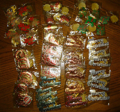 Huge Vintage Lot 512 Xmas Christmas Foil Seals
