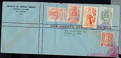 El Salvador 1957  Air Mail Advertising Cover* Sucursal To Toledo, Oh Usa