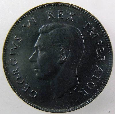 SOUTH AFRICA. 1939 1/4 Penny, Farthing. George VI. Brown, Uncirculated KM-23.