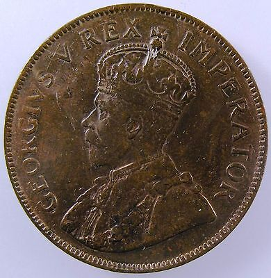 SOUTH AFRICA. 1927 Penny. King George V. Extremely Fine. KM-14.2