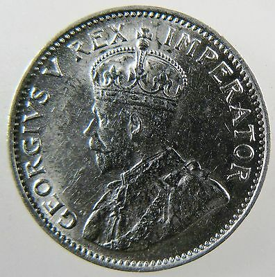 SOUTH AFRICA. 1926 King George V Silver 3 Pence, UNC. KM-15.2