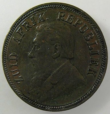 SOUTH AFRICA. 1892 Bronze  Penny. Extremely Fine. KM-2