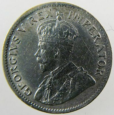 SOUTH AFRICA. 1925 Silver 3 Pence. Extremely Fine. Scarce. KM-15A