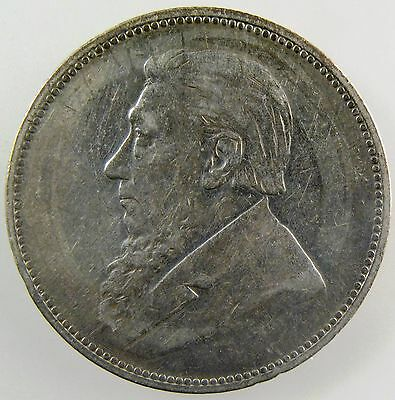 SOUTH AFRICA. 1896 Silver 2 Shillings, Extremely Fine. KM-6.