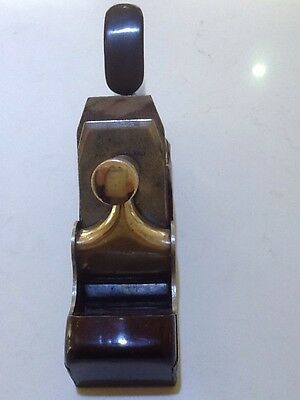 Antique Rare Spiers Ayr Brass Rosewood & Iron Wood Working Plane