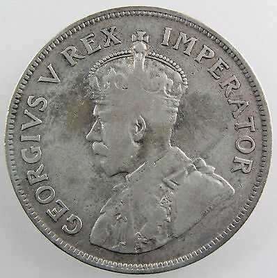 SOUTH AFRICA. 1923 George V Silver 2 1/2 Shillings. Fine. KM-19.1.
