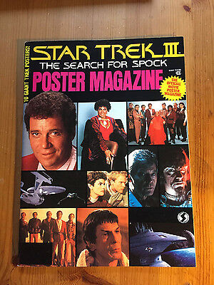 Star Trek III 3 The Search For Spock Official Poster Magazine Gene Roddenberry