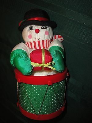 """(2444) Christmas snowman wind-up musical decoration 10"""""""