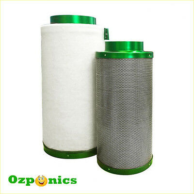 HYDROPONICS 6 INCH (150MM x 500MM) FILTAROO CARBON FILTER Charcoal Air Activated