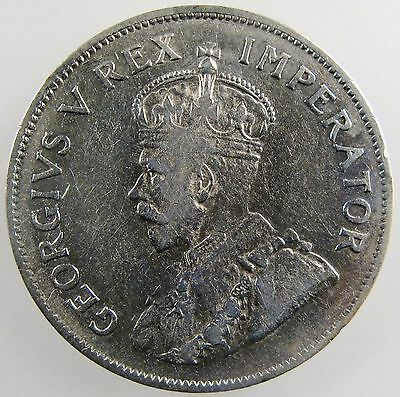 SOUTH AFRICA. 1936 George V Silver 2 1/2 Shillings, Very Fine. KM-19.3.