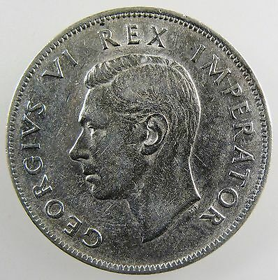 SOUTH AFRICA. 1941 George VI Silver 2 1/2 Shillings, XF KM-30.