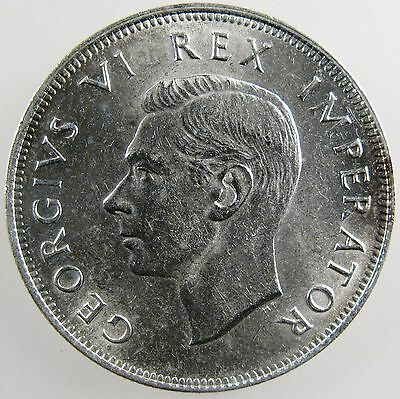 SOUTH AFRICA. 1937 George VI Silver 2 1/2 Shillings. Uncirculated. KM-30.