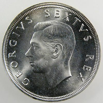 SOUTH AFRICA. 1948 George VI Silver 5 Shillings. Gem Proof Like. KM-40.1