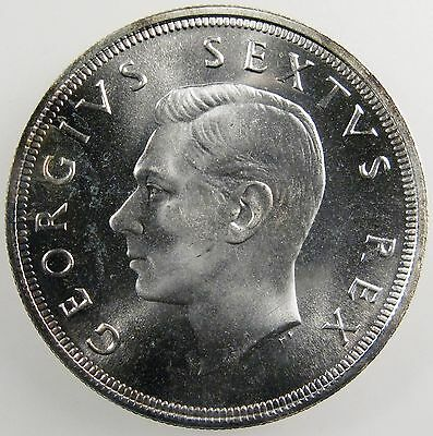 SOUTH AFRICA. 1949 George VI Silver 5 Shillings. Gem Proof Like. KM-40.1.