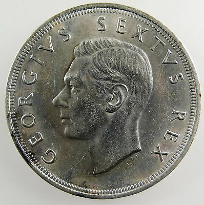 SOUTH AFRICA. 1951 George VI Silver 5 Shillings, Uncirculated. KM-40.2.