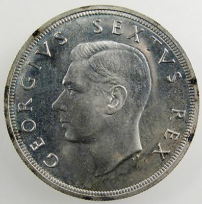 SOUTH AFRICA. 1952 George VI Silver 5 Shillings. Gem Proof Like. KM-41.
