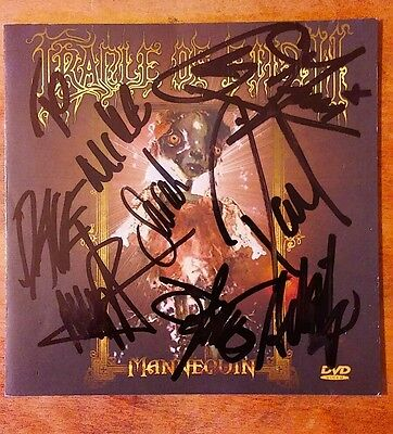 Cradle Of Filth Full Band Autograph Dvd Booklet. Mannequin.