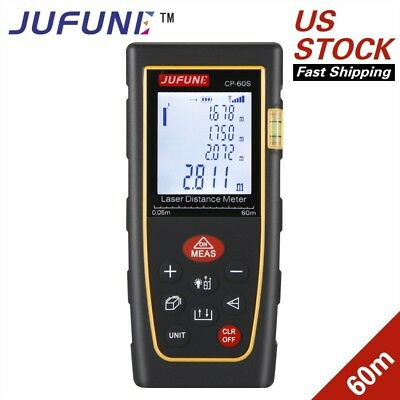 Jufune New CP-60S 60M Handheld Digital Laser Distance Meter Range Finder Measure