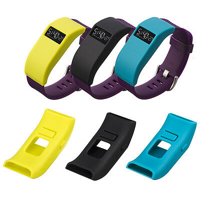UK 3x Sillicone Replacement Band Colorful Dust Cover Case For Fitbit Charge HR