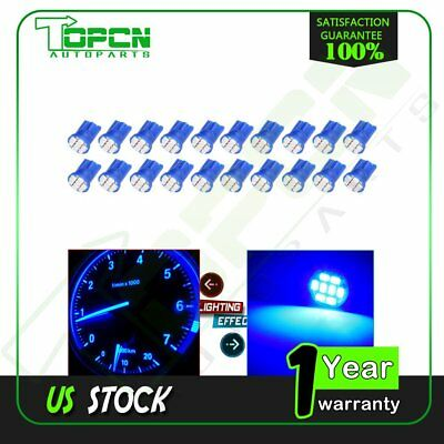 20X T10 Pure Blue 8-SMD Super Bright LED Light Bulbs 194 2825 921 168 175 501