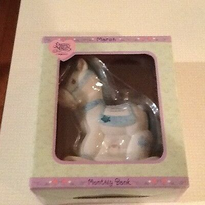 Precious Moments Rocking Horse Bank March new in box